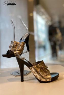 Gucci sandal gold tone